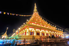 Khonkaen, Thailand - 10 May 2017- Buddhism candle light waving r Royalty Free Stock Photos