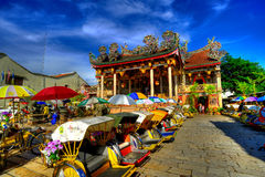 Khoo Kongsi tempel i HDR fotografering för bildbyråer