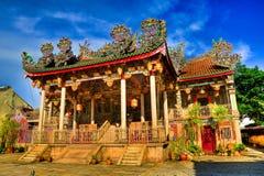 Khoo Kongsi tempel i HDR royaltyfri fotografi