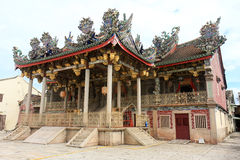 Khoo Kongsi Temple, Penang, Malaysia. Chinese Temple Built in 1600 with elaborate and highly ornamented architecture stock images