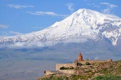 khor修道院神圣的virap 免版税库存照片