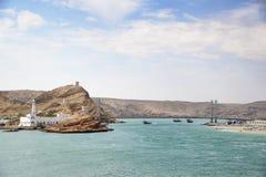 Khor Al Batah bridge Royalty Free Stock Images
