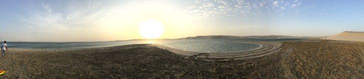 Khor Al Udeid Panorama fotografia stock