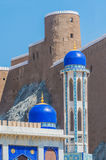 The Khor mosque and Fort Marani, Muscat, Oman Royalty Free Stock Image