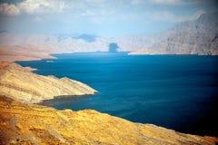 Khor Najd, een fjord in Musandam-schiereiland, Oman Royalty-vrije Stock Foto's