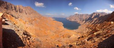 Khor Najd, fjord w Musandam półwysepie, Oman Obrazy Royalty Free