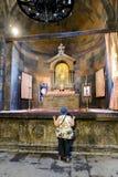 KHOR VIRAP修道院,亚美尼亚- 2017年9月18日:F内部  免版税库存图片