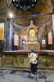 KHOR VIRAP修道院,亚美尼亚- 2017年9月18日:F内部  库存图片