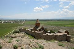 Khor Virap教会,亚美尼亚 免版税库存图片