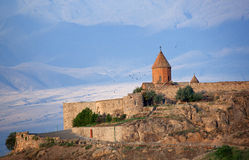 Khor Virap on the background of Ararat Royalty Free Stock Photography