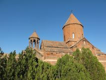 Khor Virap djup fängelsehåla - forntida armenisk kloster royaltyfri foto