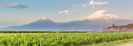 Khor Virap ed il monte Ararat Immagini Stock Libere da Diritti