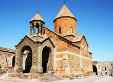Khor Virap monastery in Armenia stock photography