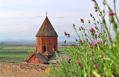 Khor Virap Monastery in Armenia stock photo