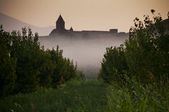 The Khor Virap monastery in the morning Stock Images