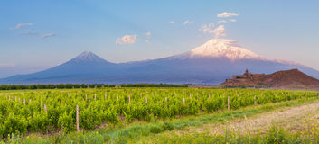Khor Virap and Mount Ararat Royalty Free Stock Images