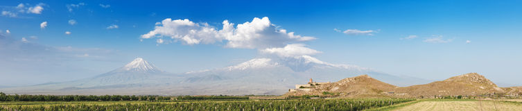 Khor Virap and Mount Ararat Royalty Free Stock Photography