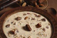 Khorma escarpado Sewiya - un plato dulce de la India foto de archivo