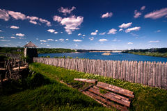 Khortytsya landscape. Landscape at Khortytsia island near river Dnepr. Zaparozhye. Ukraine stock photo