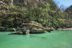 Khosta河 库存照片