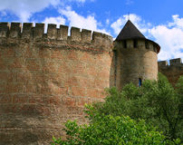 Khotin castle wall Royalty Free Stock Images