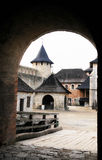 Khotin Schloss - von der Hauptleitung Lizenzfreie Stockbilder