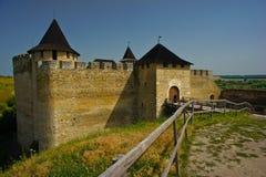 Khotinsk城堡,乌克兰 免版税图库摄影