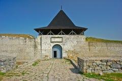 Khotinsk城堡,乌克兰 免版税库存照片