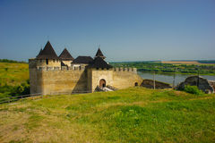 Khotinsk Castle, Ουκρανία στοκ φωτογραφία