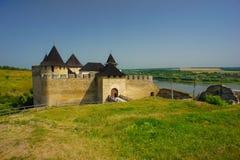 Khotinsk-Schloss, Ukraine Stockfotografie