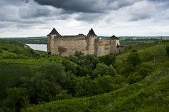 The Khotyn castle. An ancient ukrainian castle near Khotyn royalty free stock photography