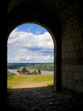Khotyn castle, 13-17 century, Ukraine Royalty Free Stock Images