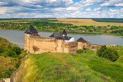 Khotyn castle, 13-17 century, Ukraine Royalty Free Stock Image