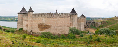 The Khotyn Fortress Stock Photos