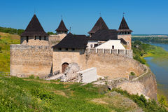 Khotyn fortress in summer Stock Photos