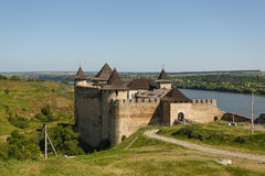 Khotyn Fortress, Ukraine Stock Photo