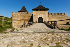 Khotyn Fortress, Ukraine Stock Images