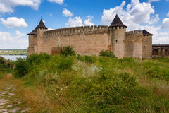 Khotyn Fortress, Ukraine Royalty Free Stock Images