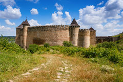 Khotyn Fortress, Ukraine Stock Photography