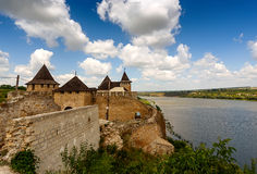 Khotyn Fortress, Ukraine Royalty Free Stock Photos
