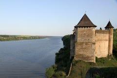 Khotyn Fortress, Ukraine royalty free stock images