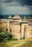 Khotyn Fortress in Ukraine Stock Photo
