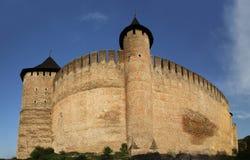 Khotyn Fortress, Ukraine stock photography