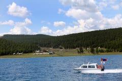 湖Khovsgol,北蒙古 库存图片