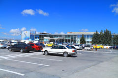 Khrabrovo Airport in Kaliningrad. KHRABROVO, RUSSIA — JULY 21, 2014: Khrabrovo Airport in Kaliningrad region in the summer of July Royalty Free Stock Image