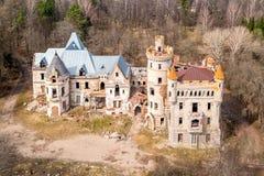 Khrapovitsky庄园和城堡在Muromtsevo,弗拉基米尔 免版税库存图片