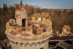 Khrapovitsky庄园和城堡在Muromtsevo,弗拉基米尔 库存图片
