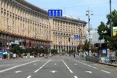 Khreschatyk, ο κεντρικός δρόμος του ουκρανικού κεφαλαίου στοκ φωτογραφία