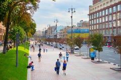 Khreschatyk street. Kyiv, Ukraine Royalty Free Stock Image