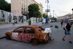 Khreschatykstraat nabijgelegen Maidan Stock Foto